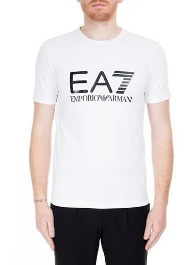 EA7 Emporio Armani  T Shirt Erkek T Shırt S 6Gpt14 Pj20Z 1100 Beyaz